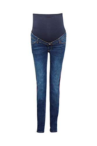 Esprit Maternity Damen Straight Umstandsjeans Jeans Jeans hat Used-Details A188X001 (40/32, Darkwash)