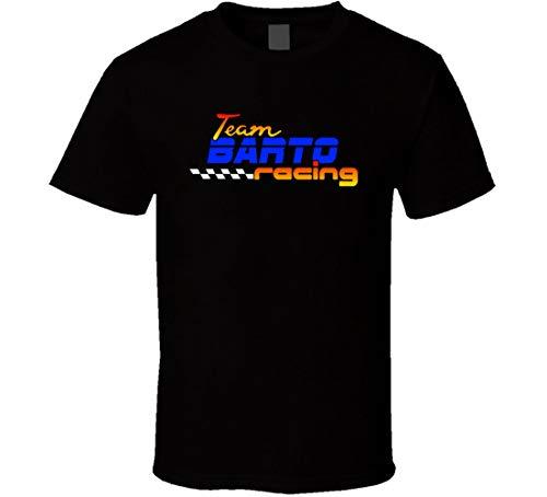 Barto Team Racing - Camiseta de carreras personalizada Negro Negro ( M