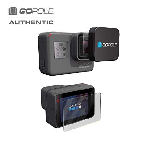 GOPOLE 852895006113 Objektiv- und LCD-Schutz-Set für GoPro Hero5, Schwarz