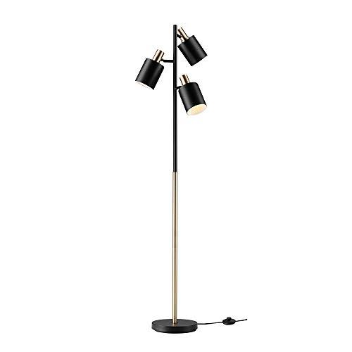 Globe Electric 67354 Novogratz x Globe Floor Lamp, Matte Black with Brass