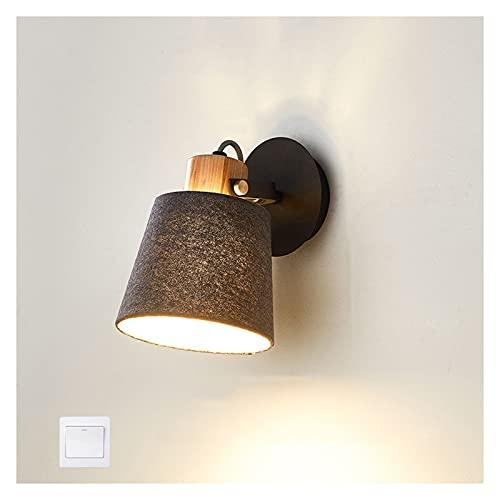 A-ZHP-zhaoming Lámpara de Pared, lámpara de Lectura de la Sala de Estar del Dormitorio Moderno Simple Giratorio Iluminación de Pared