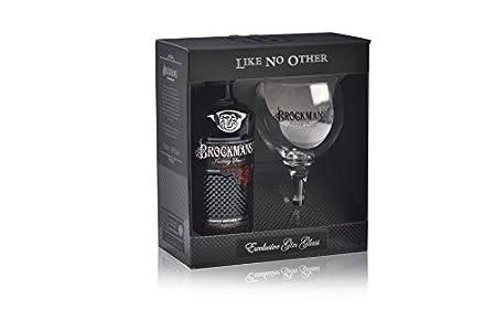 Ginebra Brockman's premium Gin - estuche de ginebra premium con Copa Brockamans de Regalo 70cl