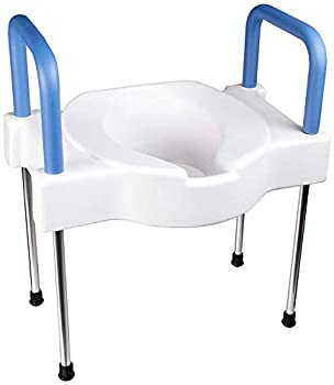 Maddak Tall-Ette Elevated Toilet Seat with Extra Wide Seating Surface and Steel Legs  725882000