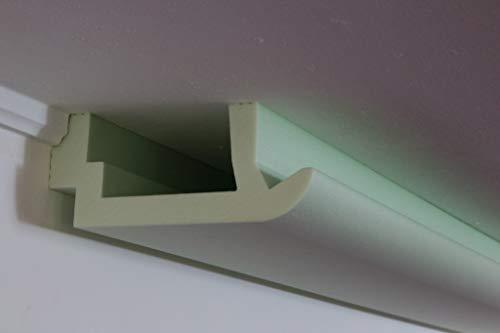 BENDU LED Stuckleisten – Lichtprofile aus Hartschaum Lichtvouten für indirekte Beleuchtung von Wand & Decke 200x82mm WDKL-200A-ST