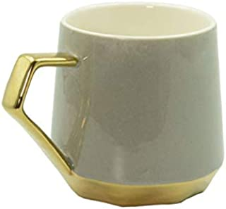 Mumuso Taza DE Ceramica con Detalles Dorados-Gris