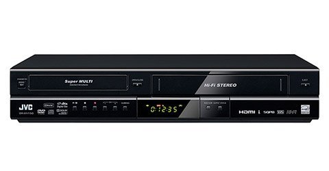 JVC New All Multi Region Code Zone Free DVD Recorder Player VCR Combo with Digital ATSC Tuner and HDMI 1080p Upconverting [DRMV150] (Remote Control Included, Free HDMI Cable)