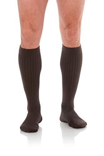 Jomi Compression Men Collection, Compression Socks Microfiber, 20-30mmHg 202 (Large, Gray)