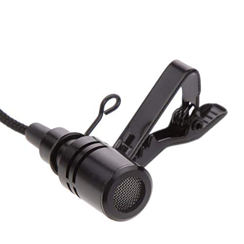 DDARK Jack Clip Mic, Microphone for You Tube Collar Mic for Voice Recording, Lapel Mic Mobile, Pc, Laptops, Smartphones & DSLR Camera(Black) & Free Mobile Holder