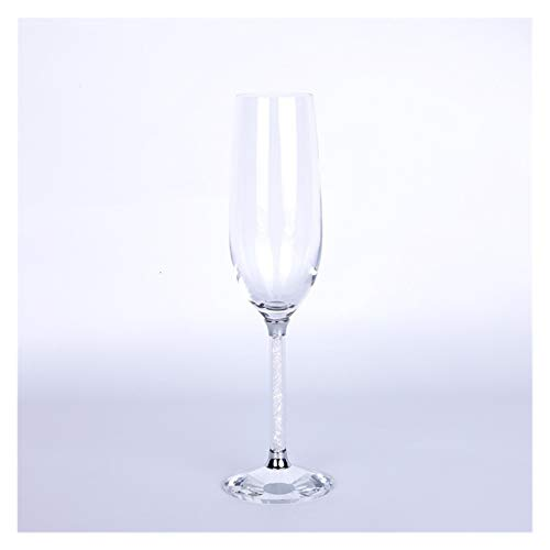 YJLLOVE YANGJIAOLIAN Bodum Bebiendo Vidrio Boda champán Vasos Flautas Fiesta Burbuja Vino Tulip Cocktail Taza (Capacity : A, Color : Clear)