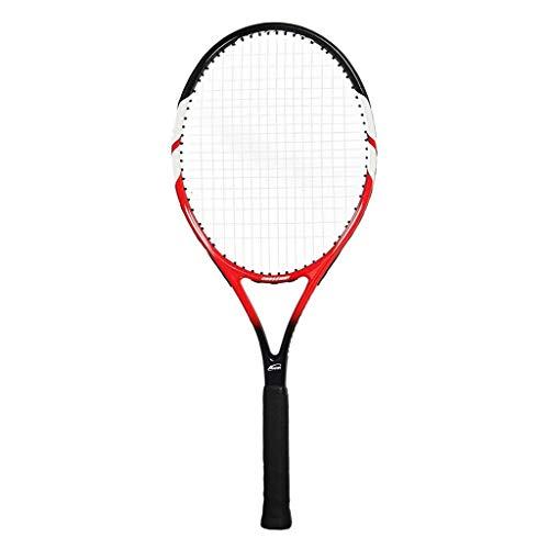 YFDD Única Raqueta de Tenis Raqueta de Iniciación de Carbono Rebote Trainer con Alambre sin Cubierta for Adultos Raqueta de Tenis aijia