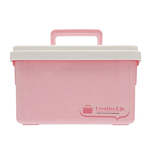 N / A Mehrzweck-Aufbewahrungsbox für Haushalte Kunststoff Erste-Hilfe-Box für medizinische Geräte Medizin-Box Pillen-Organizer Tragbarer Werkzeughalter 24,5 * 18,5 * 14,5 cm