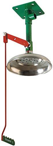 Buy Bargain Justrite 30082 Drench Shower, Floor Mount, Galvanized Pipe, Nozzle: Nylon 6, Pipe: Green...