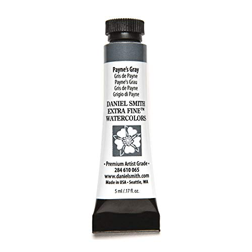 DANIEL SMITH Extra Fine Watercolor Paint, 5ml Tube, Payne's Gray, 284610065