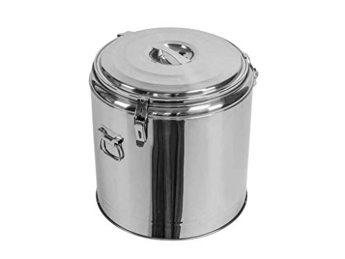 Profi Gastro Edelstahl Thermotransportbehälter mit Druckausgleichsventil von 10-50 Liter auswählbar (45x45 cm 43Liter)