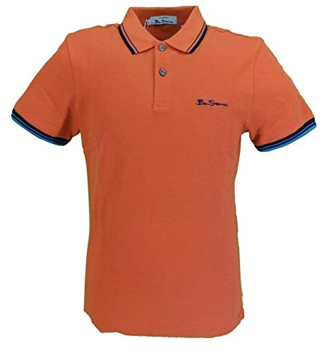 Ben Sherman Herren Poloshirt Signature Gr. M, Orange