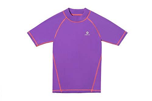 Rash Guards Surf Shirt LSF 50+ UV-Schutz Schwimm-T-Shirt für Mädchen 5/6-13 Jahre Gr. 13 Jahre, Ss-violett