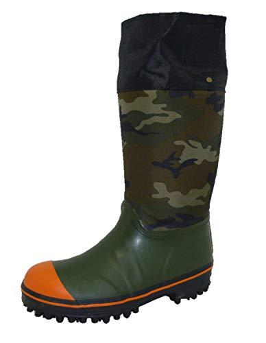 [ミツウマ] メンズ 山林、林業用スパイク長靴 岩礁No.5000NS カモフラ (24.5cm)
