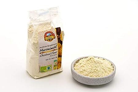 Harina de castaña ecológica a base de castañas dulces - 6 x 300g - Sin gluten - Dulce y de sabor fuerte - Vegano - Comida cruda