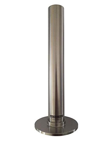 noble design dessau Vase Edelstahl geschliffen, Höhe 19 cm, Made in Germany