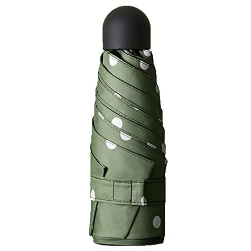 Ombrello Pieghevole Portatile Antivento, Anti UV Umbrella Con Baldacchino Stecche Rinforzato Compatto Leggero Stabile Di Viaggio (Verde Oliva)