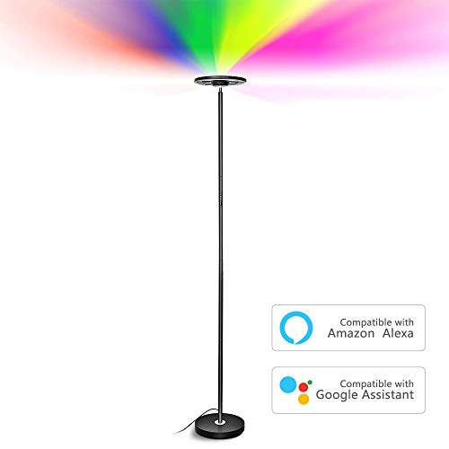 Floor Lamp, SZGMJIA LED WiFi Smart Floor Light with...