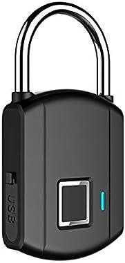 Intelligent Fingerprint Padlock Keyless Waterproof Digital Lock for School Locker, Gym, Backpack,Door, Cabinet, Suitcase,Indoor and Outdoor
