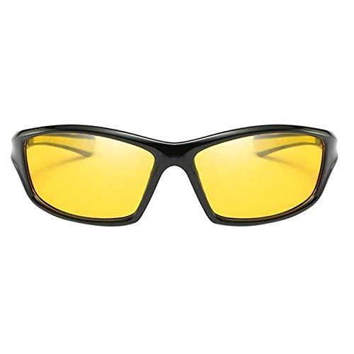 SDENSHI Gafas de Sol Deportivas para Esquí, Protección UV400 Ciclismo Bicicleta Gafas de Bicicleta, Gafas de Sol Unisex para Correr/Esquiar/Hacer Snowboar - Amarillo