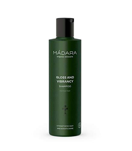 MÁDARA Organic Skincare |Schönheits- und Glanzshampoo - 250ml, Mit Nördlicher Birke und Preiselbeere, schützend, glanzstärkend, volumenfördernd, vegan, Ecocert-zertifiziert, Recycelbare Verpackung.