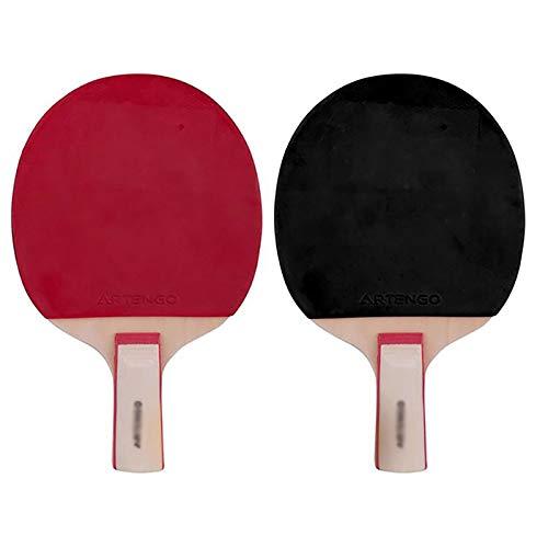 Palas de Ping Pong Disparo Tabla Raqueta de Tenis Paquete de 2 Estudiantes Doble Principiante Tipo de Formación Straight Shot Principiante Traje de Entretenimiento Familiar