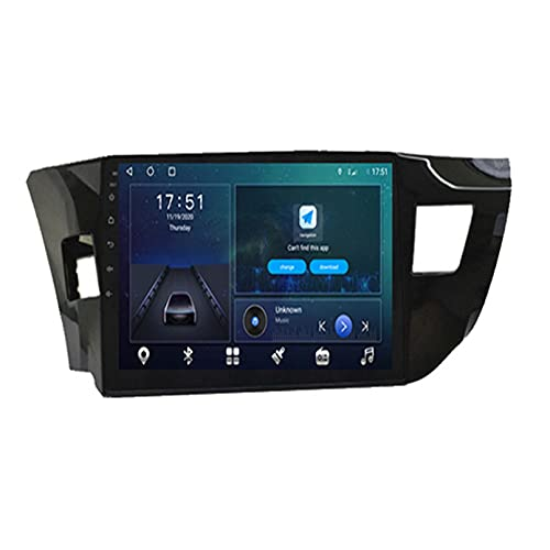 GOHHK 10'Android 10.0 Radio De Automóvil Video Multimedia Player para Toyota Corolla Ralink 2013-2019 GPS Serero Carplay 4g + 64g 2 DIN DVD(Size:Cuatro nucleos,Color:WiFi:4GB+64GB)
