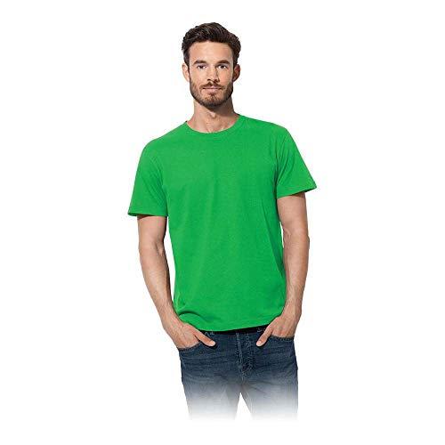 Stedman ST2000_KEGM Basics T-Shirt, Grün Kelly, M Größe