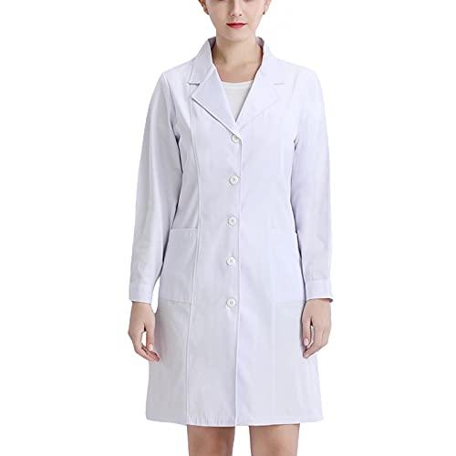 Bata de Laboratorio - Trabajo Abrigo Abrigo Blanco Mujeres, Niños, Enfermera, Vestido...