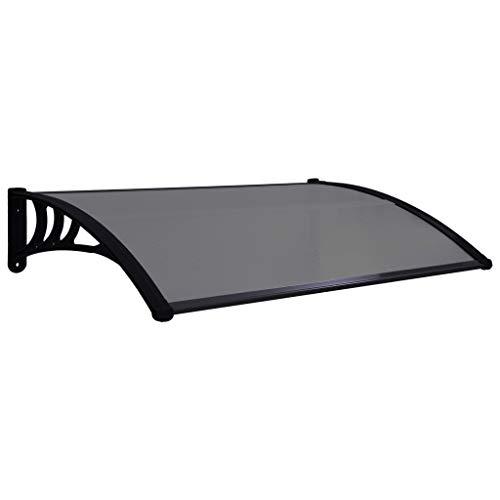 Schwarz 200 x 100 cm, Schwarz Transparent Polycarbonat Pultvordach /Überdachung 5 mm UISEBRT Vordach f/ür Haust/ür 200 x 100 cm