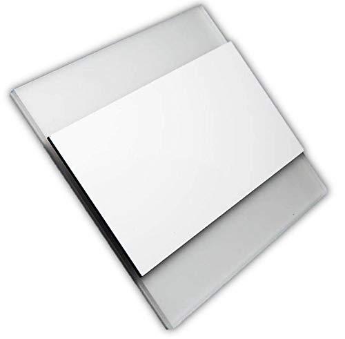 LED Wandeinbauleuchte, Treppenbeleuchtung, Beleuchtung von Treppen, Treppenleuchte, Wandeinbaustrahler, Treppenlicht Wandstrahler 230V 2W IP20 (Warm-weiß/Weißer Glanz-Rechteck, 1 Stück)
