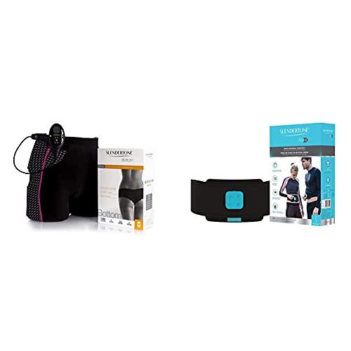 Slendertone Abs8, Ceinture de Tonification Abdominale Mixte Noir 61-117 cm & Short d'électrostimulation femme Noir, Taille 34-40 (tour de taille: 61-81cm/hanches: 81-97cm)