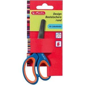Herlitz 5 x Bastelschere Design 13cm rund farbig Sortiert Linkshänder