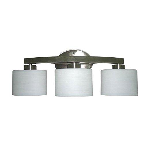 allen + roth 3-Light Merington Brushed Nickel Standard Bathroom Vanity Light
