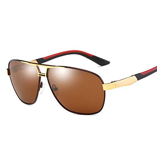 Burenqi Gafas de Sol para Hombre Nuevas Gafas de aleación de Aluminio y magnesio Conductor Que Conduce el polarizador Gafas de Sol para Pesca,Red