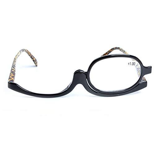 MUCHAO Flip Lesebrille Schminkbrille Kunststoff Einlinse-Klappbrille 1.50 2.00 2.50 3.00 3.50 4.00