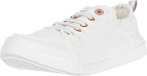 Vionic Beach Pismo Casual Women's Fashion Sneakers-Sustainable Shoes That Include Three-Zone Comfort with Orthotic Insole Arch Support, Machine Wash Safe- Sizes 5-11 Cream Canvas 8 Medium US