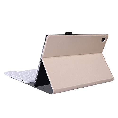 PROTECTIVECOVER+ / A610 Galaxy Tab S6 Lite 10.4 P610 / P615 (2020) Funda protectora de teclado Bluetooth con soporte y banda de pluma elástica , Fashion Phone Funda Para Protector ( Color : Gold )