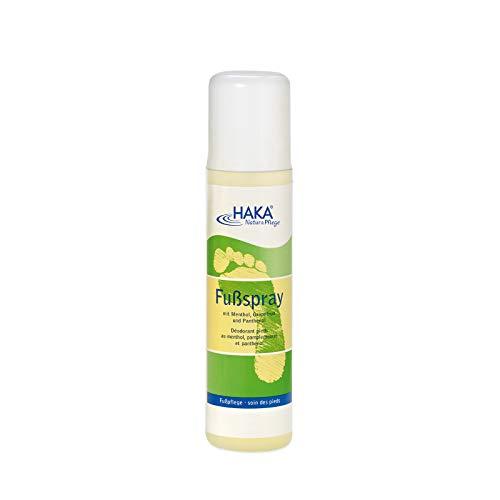 HAKA Fußspray I 200 ml I Wirkt vorbeugend gegen Schweißbildung und Fußgeruch