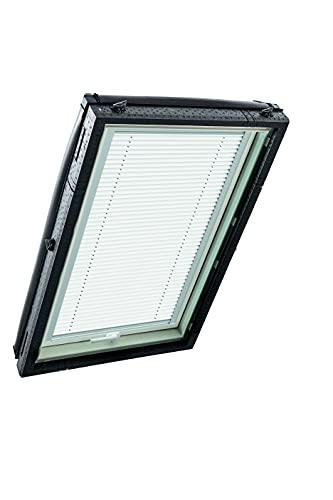 Original Roto Faltstore (ZFA) Plissee für Roto Dachfenster | dämpft einfallendes Tageslicht | Stufenlos Positionierbar | Schnelle Montage | für R4/R7 und Classic | Weiß | Größe: 09/11