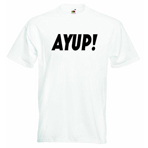 ayup Yorkshire – jongens meisjes T-shirt gepersonaliseerde thees unisex jongens meisjes t-shirt kleding met bedrukte Funny Quotes – wit – 4-5 jaar