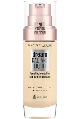 Maybelline New York Fondotinta Dream Satin Liquid, Fondotinta Naturale Effetto Satinato, SPF18, 30 Sand