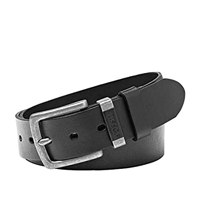 Fossil mens Jay Belt, Black, 36