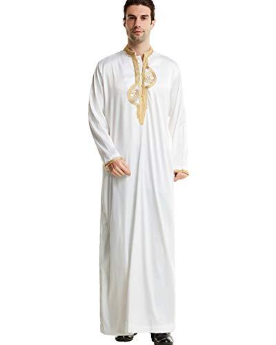 Beiläufiger ethnischer moslemischer Thobe der Männer, Herren Kaftan-Mittlerer Osten Saudi-arabische Roben Kleider mit Taschen