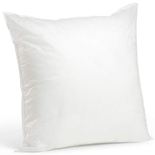 Foamily Premium Hypoallergenic Throw Pillow for Couch or Bed Decorative Insert Square, 18 x 18 - Made in USA