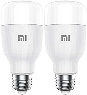 Xiaomi 2PCS Mijia MI Smart LED Bulb Essential Colorful 950 Lumens 9W E27 Lamp Voice Control Work With Google Assistant Ale...