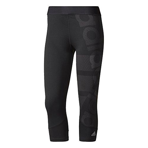 adidas Damen Techfit Capri Logo Tights, Black, XS